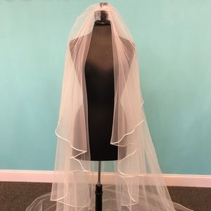 Ivory Cathedral Length 2-Tier Veil